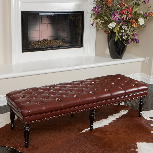 Contemporary Living Room Benches Beautiful Peoria Tufted Leather Bench Modern Living Room Los Angeles by Great Deal Furniture