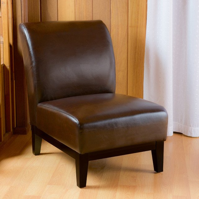 Contemporary Living Room Benches Best Of Contemporary Living Space with Brown Slipper Accent Chair