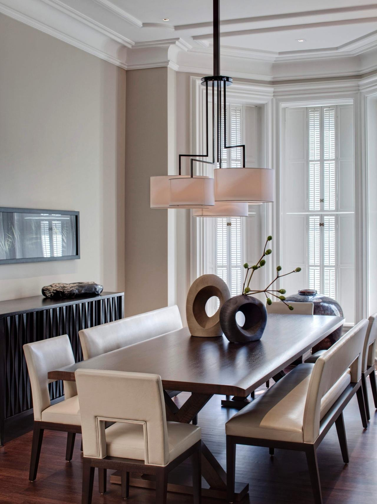 Contemporary Living Room Benches Elegant 6 Dining Room Trends to Try Living Room and Dining Room Decorating Ideas and Design