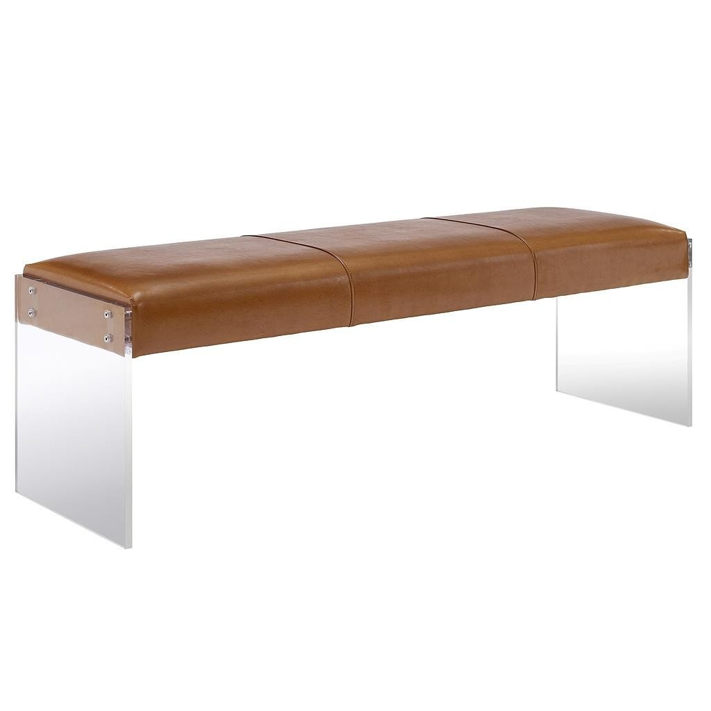 Contemporary Living Room Benches Elegant Galileo Brown Leather Modern Living Room Bench