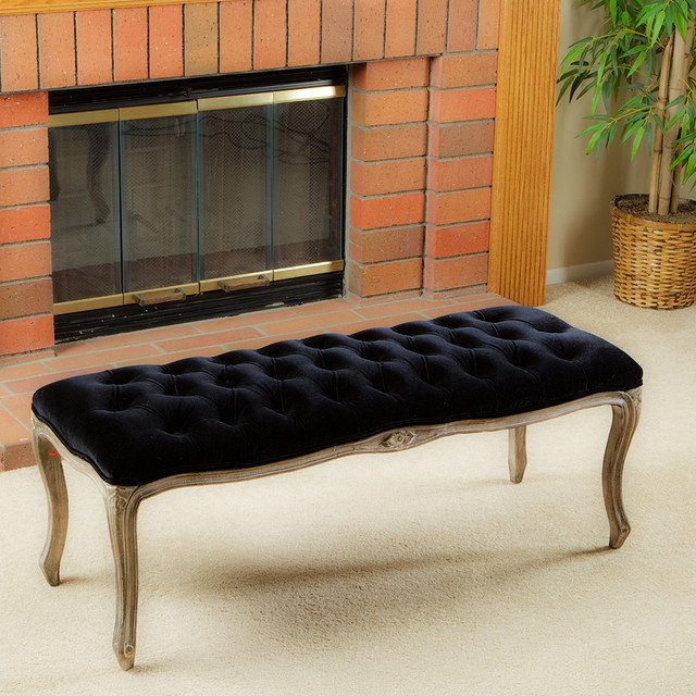 Contemporary Living Room Benches Inspirational Francis Black Fabric Bench Ottoman Modern Living Room Los Angeles by Great Deal Furniture