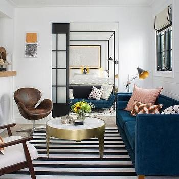 Contemporary Living Room Benches New Mid Century Modern Living Room Vintage Living Room Jessica Helgerson Interior Design