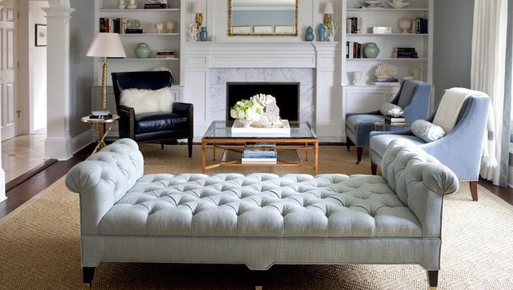 Contemporary Living Room Benches New Tufted Bench Living Room Morgan Harrison Home