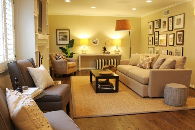 Contemporary Living Room Colors Best Of Gallery Wall Neutral Color Scheme Transitional Space Contemporary Living Room Los