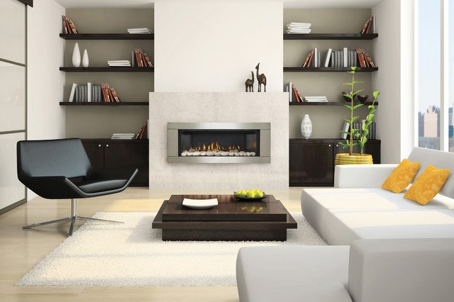 Contemporary Living Room Fireplace Best Of Contemporary Gas Fireplaces Contemporary Living Room Denver by Fireplace Warehouse Etc