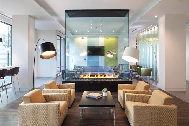 Contemporary Living Room Fireplace Best Of Custom 4 Sided Gas Fireplace Contemporary Living Room by Acucraft Fireplaces