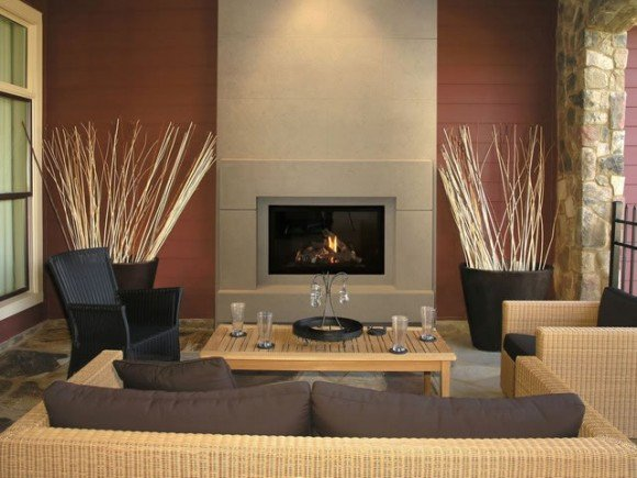 Contemporary Living Room Fireplace Fresh Apartment