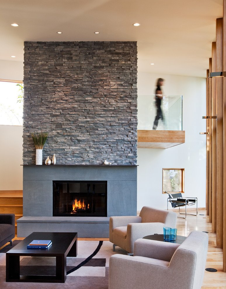 Contemporary Living Room Fireplace Inspirational attractive Stone Fireplace Ideas