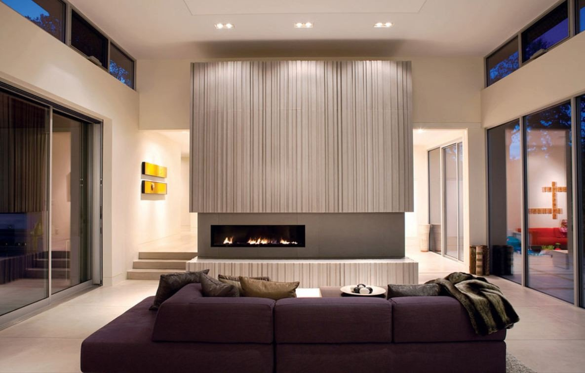 Contemporary Living Room Fireplace New How to Match A Purple sofa to Your Living Room Décor