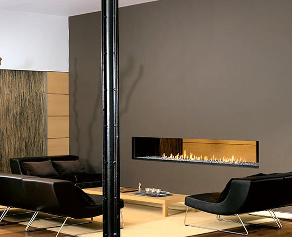 Contemporary Living Room Fireplace New Interior Design with Modern Contemporary Two Sided Fireplace