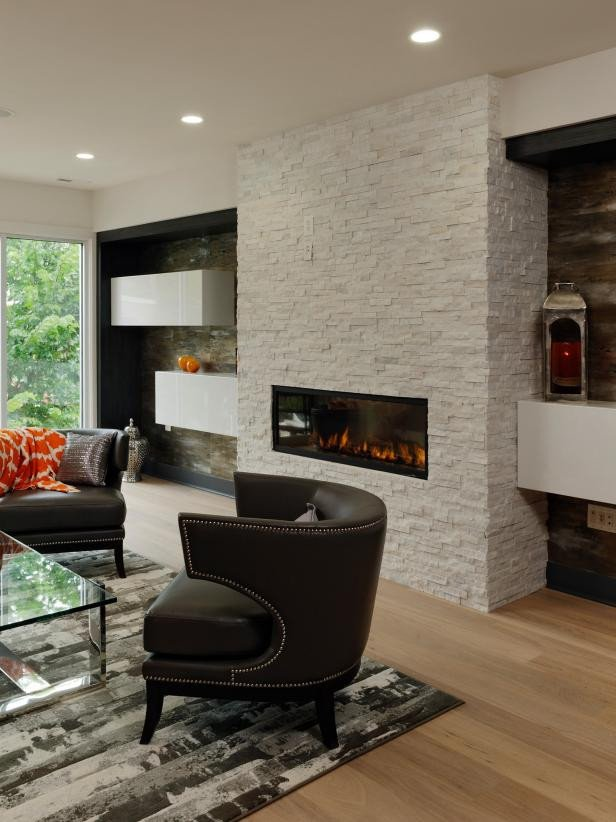 Contemporary Living Room Fireplace New Page