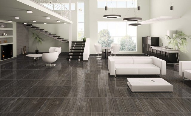 Contemporary Living Room Flooring Elegant Tile & Natural Stone Products We Carry Modern Living Room Bridgeport by Floor Decor