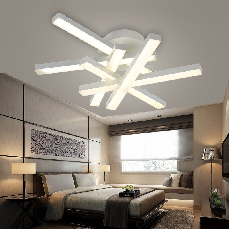 Contemporary Living Room Lights Beautiful Modern Led Ceiling Lamps Led Lamps White Light Warm Light Living Room Dining Room Ceiling Lamp