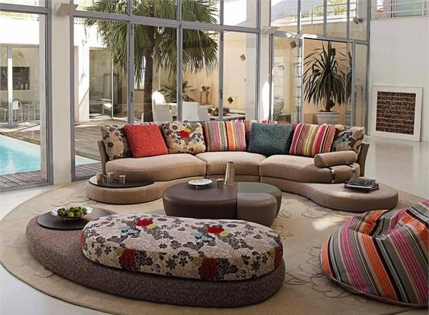 Contemporary Living Room sofas Awesome 20 Modern Living Room Designs with Stylish Curved sofas