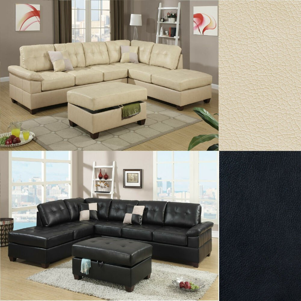 Contemporary Living Room sofas Beautiful 2 Pcs Sectional sofa Couch Bonded Leather Modern Living Room Set Sectional Ly