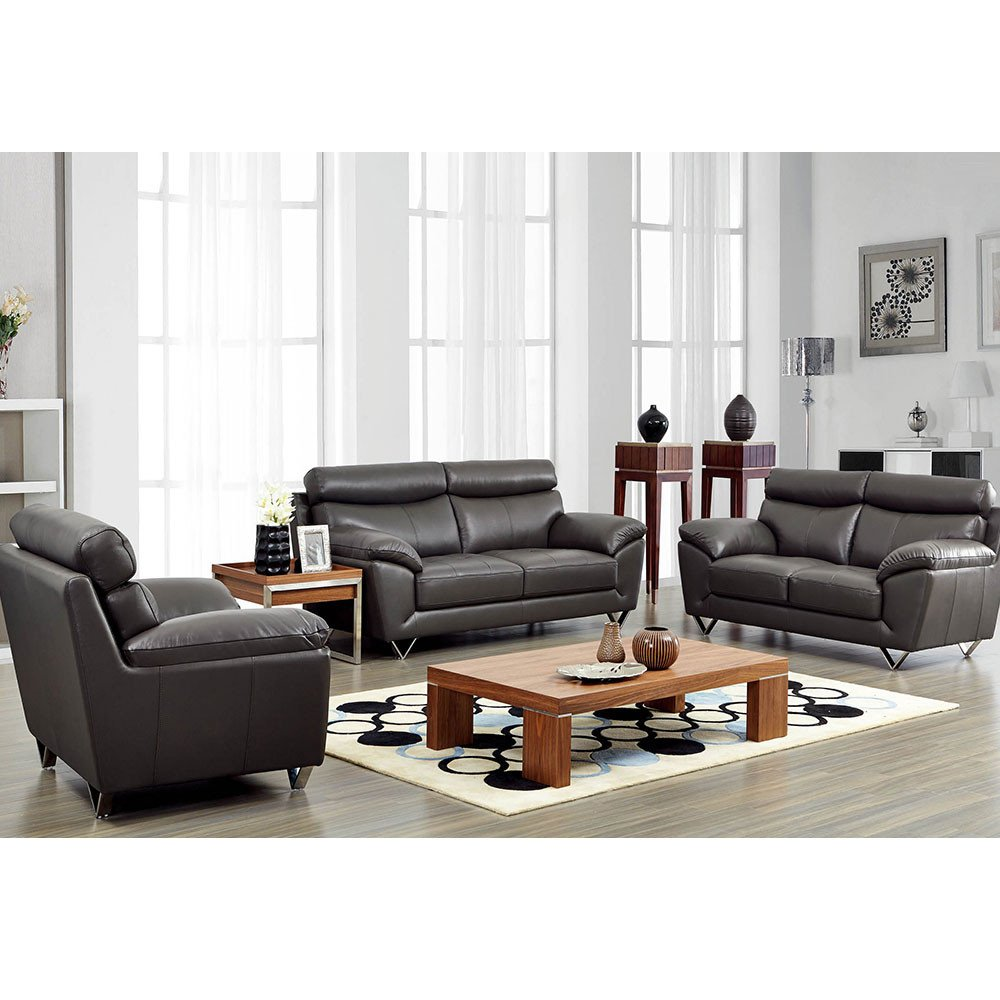 Contemporary Living Room sofas Fresh 8049 Modern Leather Living Room sofa Set by Noci Design – City Schemes Contemporary Furniture