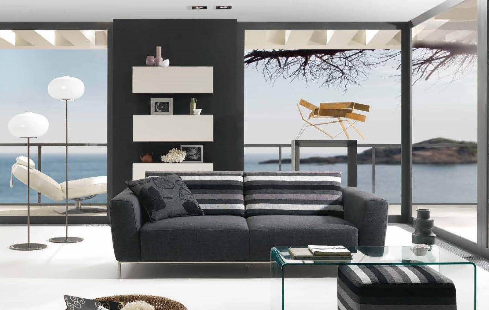 Contemporary Living Room sofas New Future House Design Modern Living Room Interior Design Styles 2010 by Natuzzi