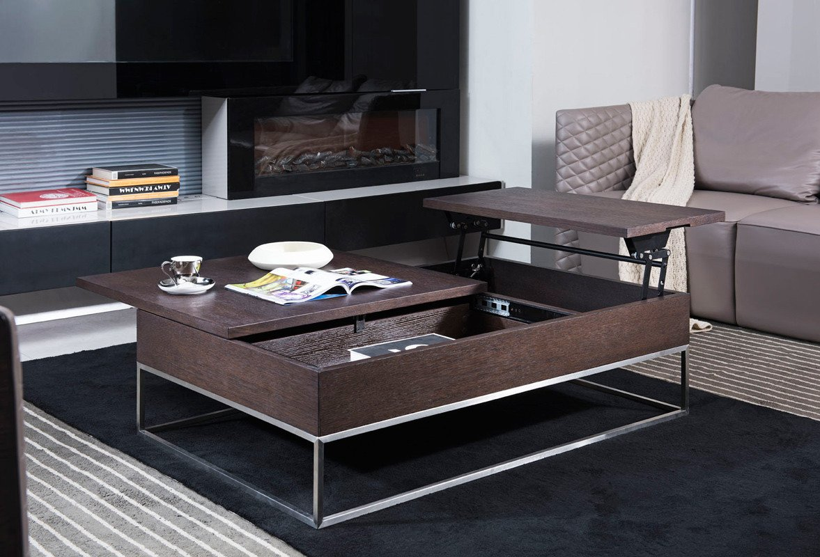 Contemporary Living Room Tables Beautiful Modrest P509a Contemporary Brown Oak Coffee Table Coffee Tables Living Room