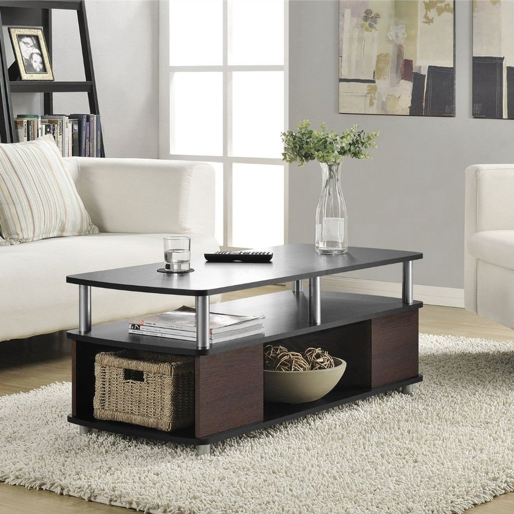 Contemporary Living Room Tables Fresh Contemporary Coffee Table Living Room Furniture Storage Cherry Black End Tables
