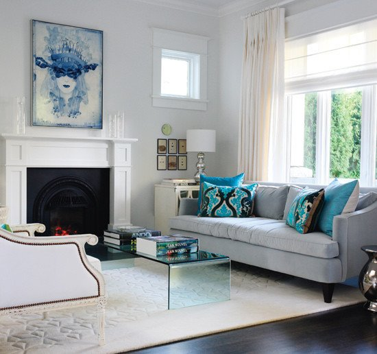 Contemporary Living Room Turquoise Best Of Turquoise and Gray