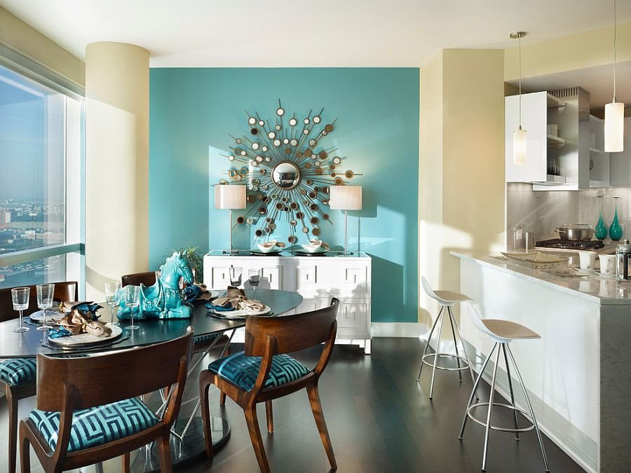 Contemporary Living Room Turquoise Fresh Blue Dining Rooms 18 Exquisite Inspirations Design Tips