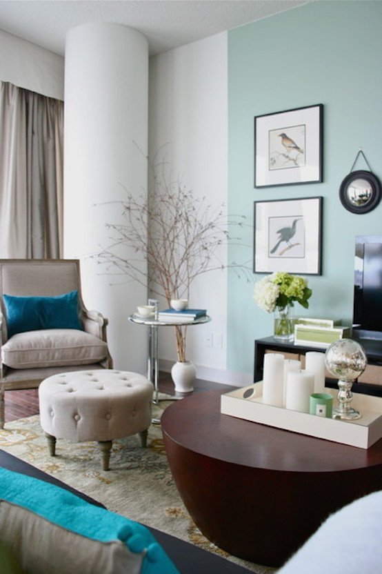 Contemporary Living Room Turquoise Luxury 21 Turquoise Living Room Ideas to Try