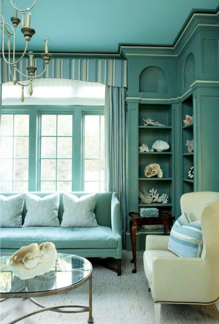 Contemporary Living Room Turquoise New 51 Stunning Turquoise Room Ideas to Freshen Up Your Home