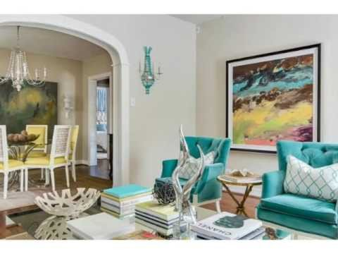 Contemporary Living Room Turquoise New Deep Turquoise and Gray Contemporary Living Rooms Ideas
