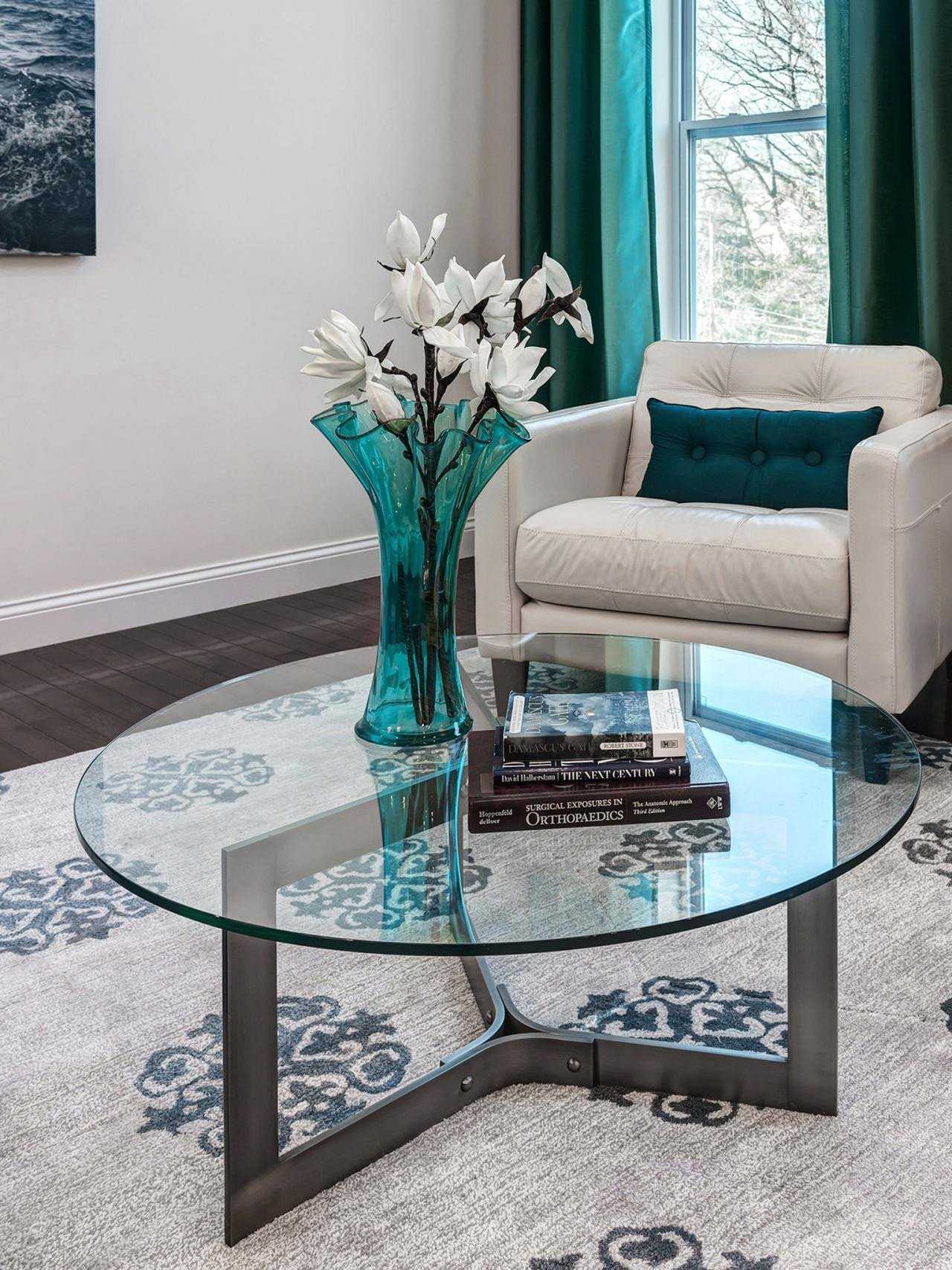 Contemporary Living Room Turquoise New S