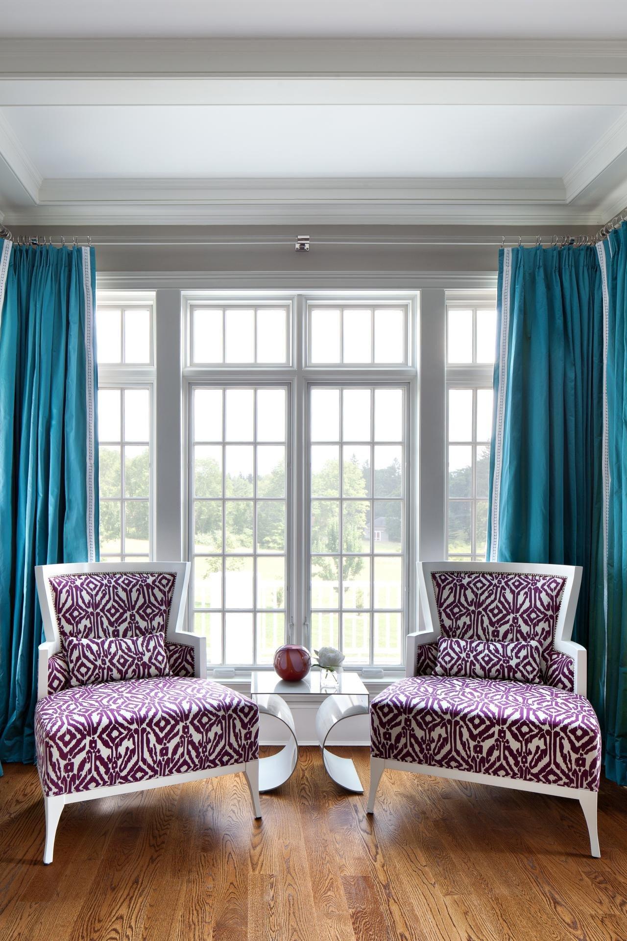 Contemporary Living Room Turquoise Unique S