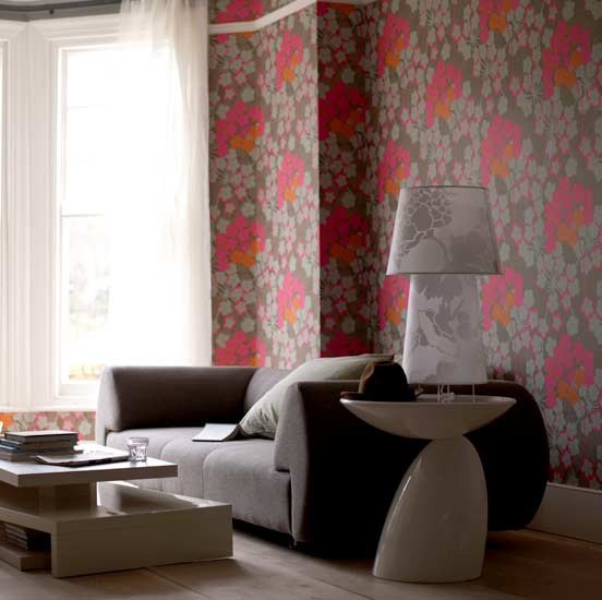 Contemporary Living Room Wallpaper Beautiful Spring Into Floral Prints – Allentown Apartments