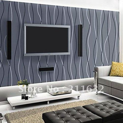 Contemporary Living Room Wallpaper Best Of Free Shipping Modern Striped Vinyl Living Room Tv Background Wallpaper wholesale & Retail In