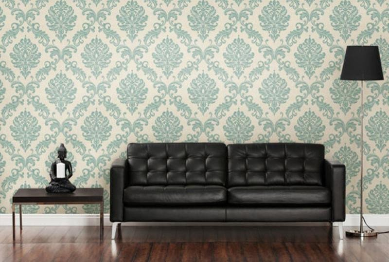 Contemporary Living Room Wallpaper Fresh 30 Elegant and Chic Living Rooms with Damask Wallpaper Rilane