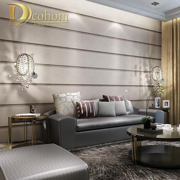 Contemporary Living Room Wallpaper Luxury Striped Marble Textures Wallpaper for Wall 3 D Embossed Designs Modern Living Room Bedroom