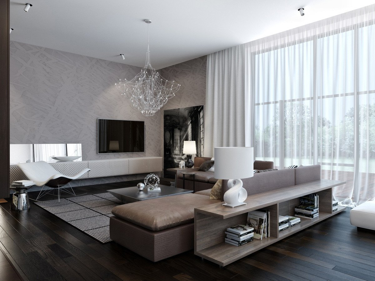 Contemporary Living Room Wallpaper Unique Modern House Interiors with Dynamic Texture and Pattern