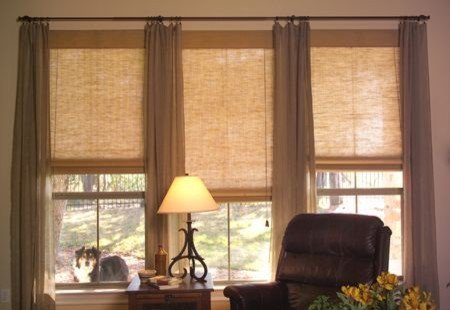 Contemporary Living Room Window Treatments Beautiful Living Room Natural Shades Contemporary Window Treatments Other Metro by Fua Window