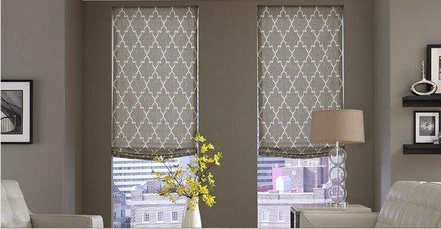 Contemporary Living Room Window Treatments Beautiful Modern Window Treatments 3 Day Blinds Living Room Modern Living Room orange County by