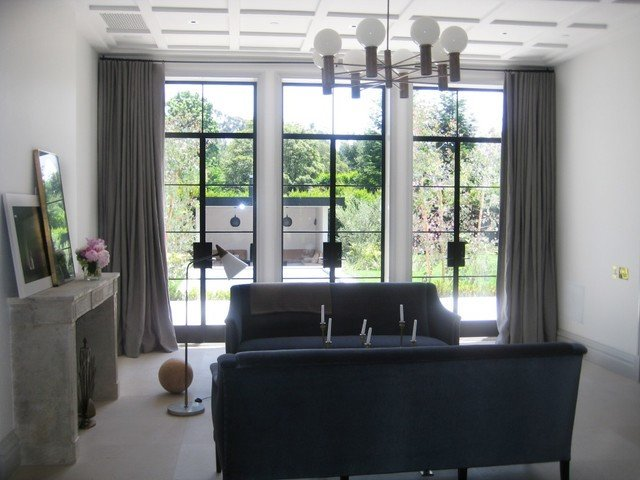 Contemporary Living Room Window Treatments Beautiful Window Treatments Modern Living Room Los Angeles by Draperies by Walter