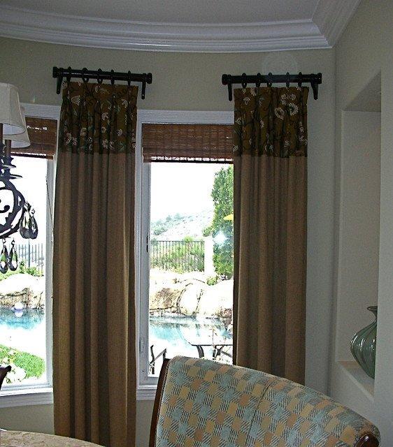 Contemporary Living Room Window Treatments New Window Treatments