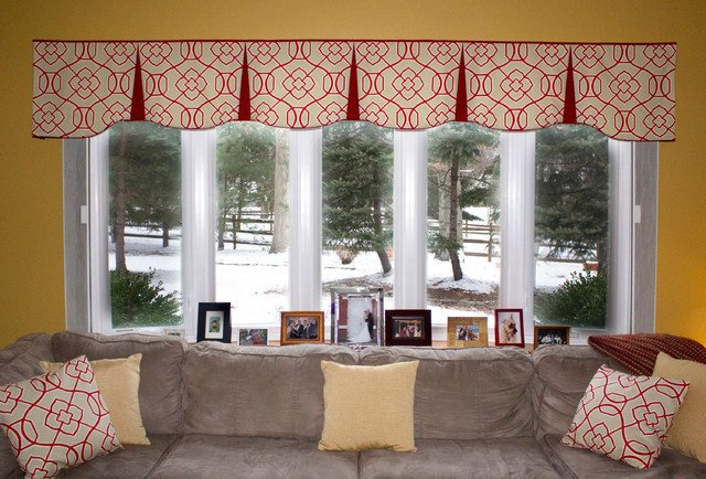 Contemporary Living Room Window Treatments Unique Emilee Hidden Rod Pocket Valances Contemporary Living Room Other by Black Belt Home Decor