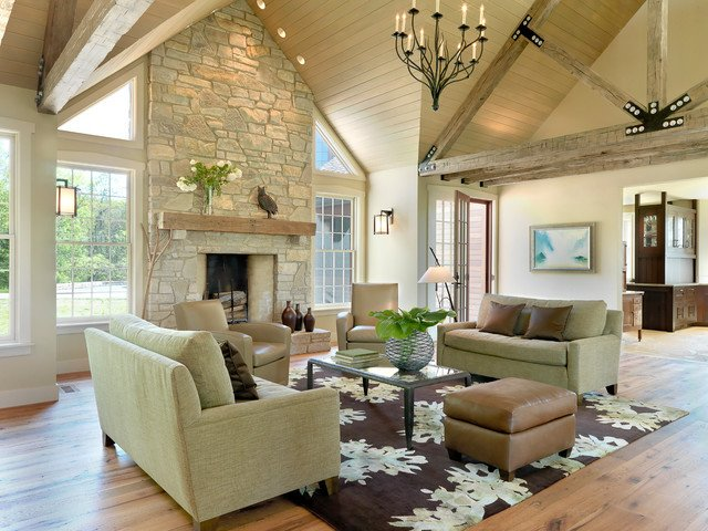 Contemporary Rustic Living Room Awesome Rustic Contemporary Contemporary Living Room St Louis by Castle Design