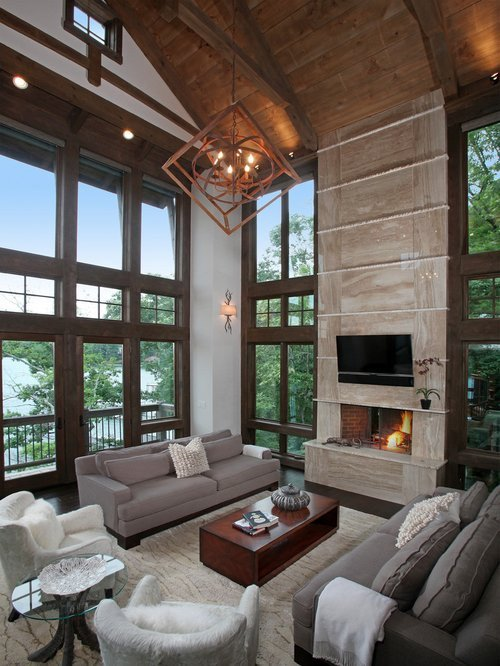Contemporary Rustic Living Room Beautiful Modern Rustic