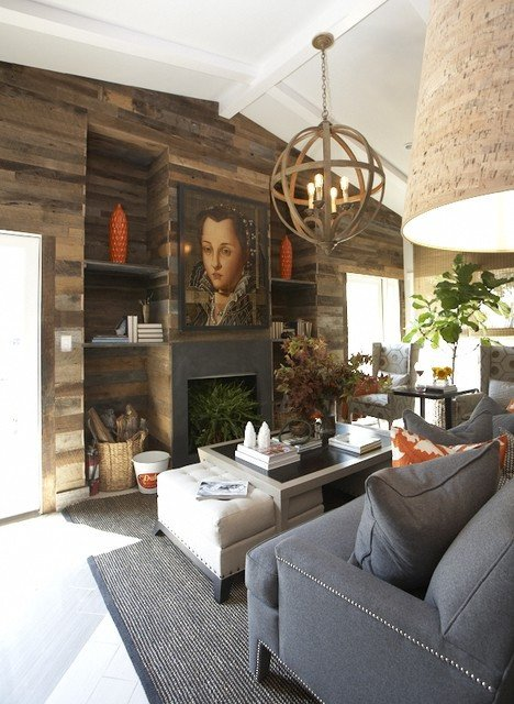 Contemporary Rustic Living Room Beautiful Rustic Living area Contemporary Living Room Dallas by Dallas Renovation Group