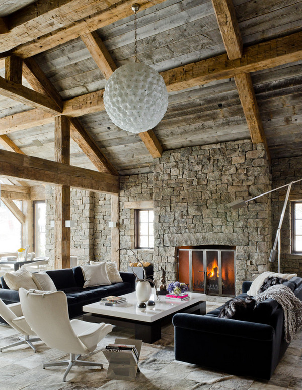 Contemporary Rustic Living Room Elegant Defining Elements the Modern Rustic Home