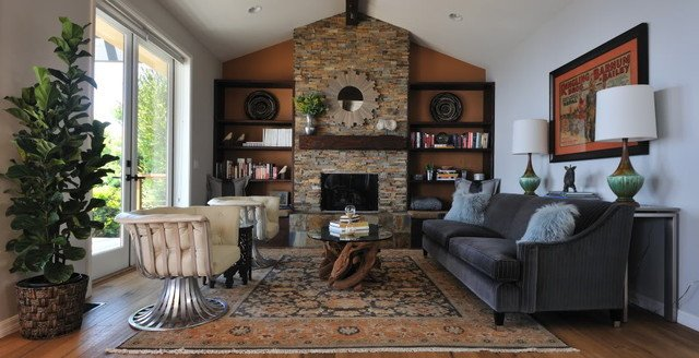 Contemporary Rustic Living Room Fresh Modern Rustic Living Room Transitional Living Room Los Angeles by Susan Deneau Interior