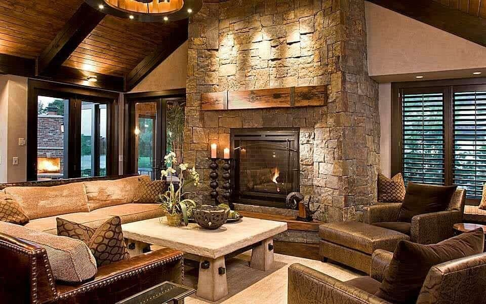 Contemporary Rustic Living Room Fresh Take A Peek Inside This Stunning Modern Rustic Minnesota Home