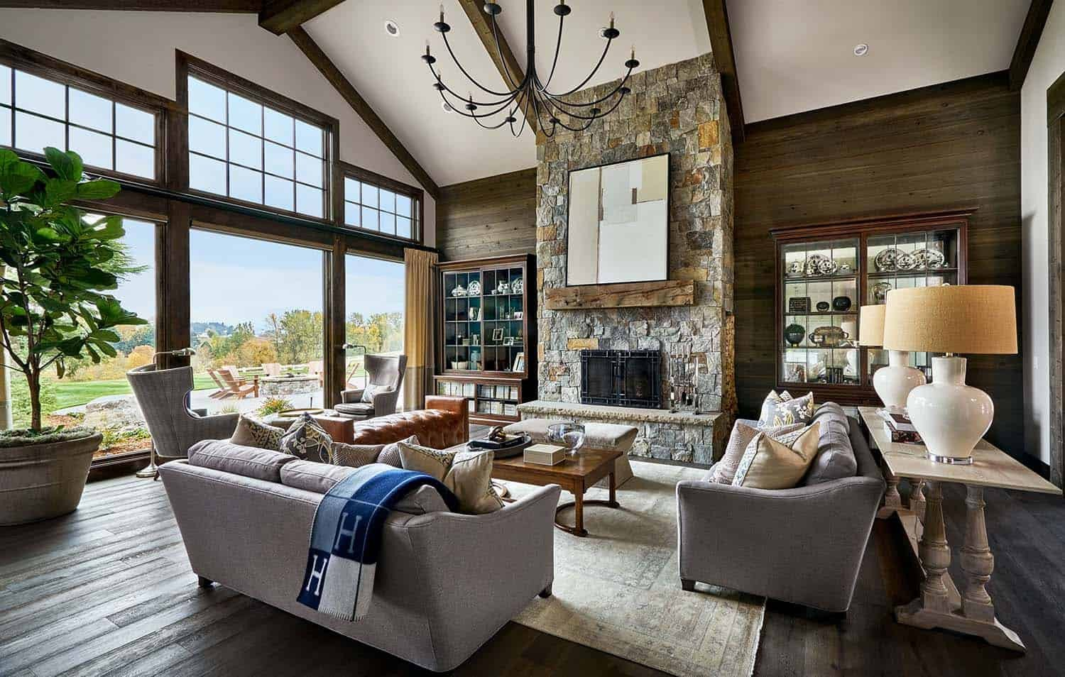 Contemporary Rustic Living Room Lovely Contemporary Rustic Farmhouse with Stunning Living Spaces In Rural oregon