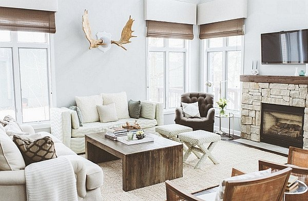 Contemporary Rustic Living Room Luxury Breezy Summer House Lake Wisconsin Clad In Chic Modern Rustic Style