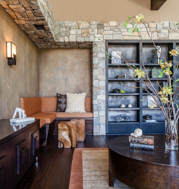 Contemporary Rustic Living Room New Modern Rustic Contemporary Living Room San Francisco by Applegate Tran Interiors