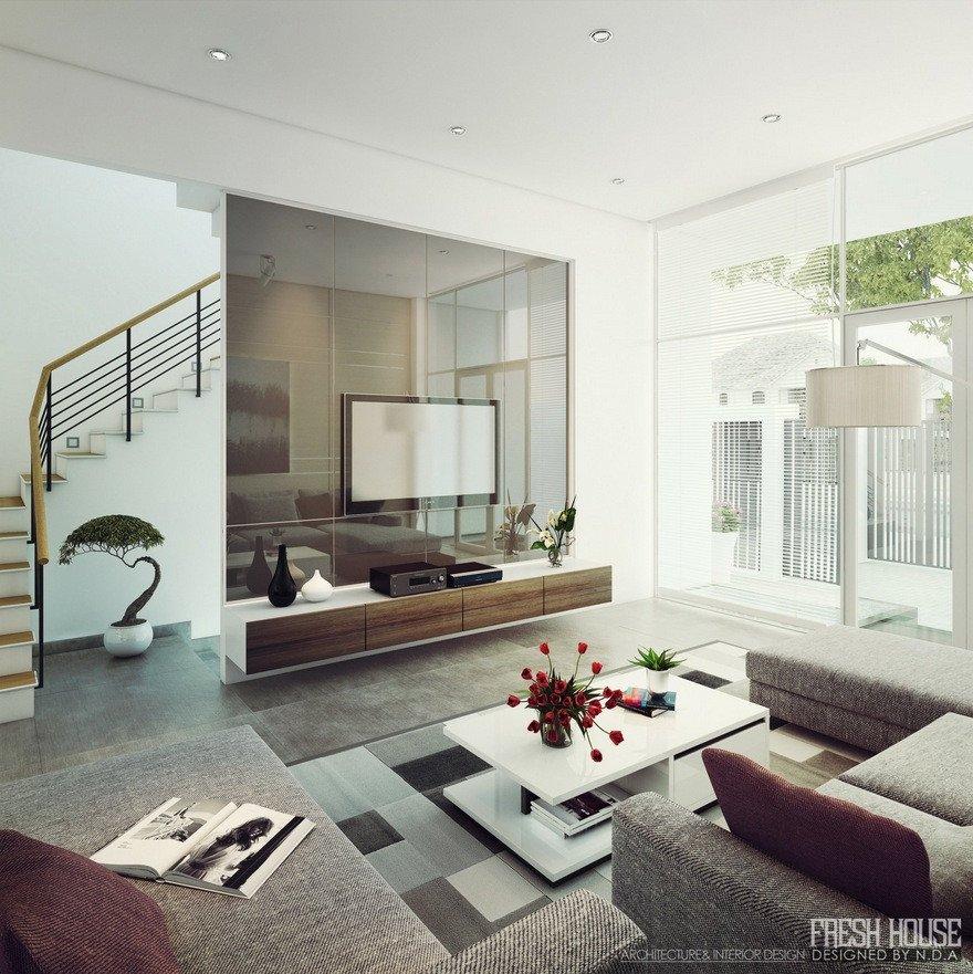Contemporary Style Living Room Fresh Light Filled Contemporary Living Rooms